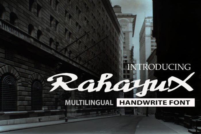 RahayuX Awesome artistic fonts that you can quickly download for your projects