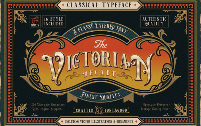 VictorianDecadeDisplay-Font Awesome artistic fonts that you can quickly download for your projects