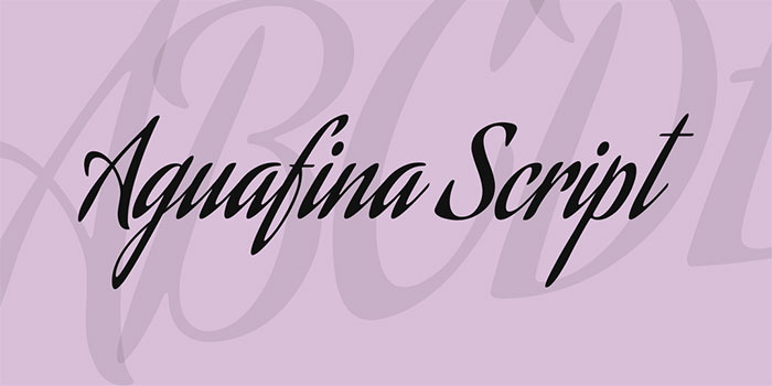 aguafina-script-font Awesome artistic fonts that you can quickly download for your projects