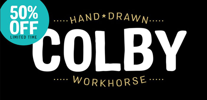 colby Awesome artistic fonts that you can quickly download for your projects