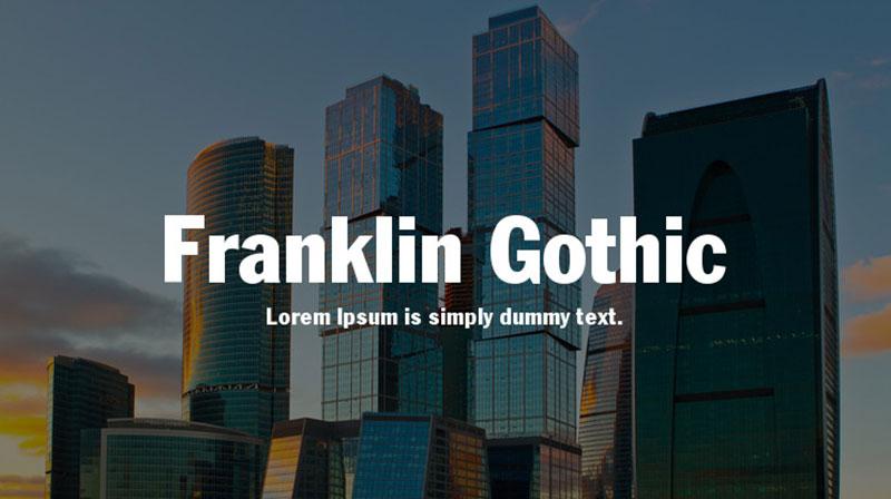 franklin-gotic Une grande liste de polices faciles à lire (à vérifier)