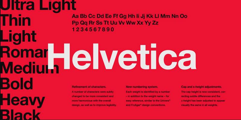 helvetica Une grande liste de polices faciles à lire (à vérifier)