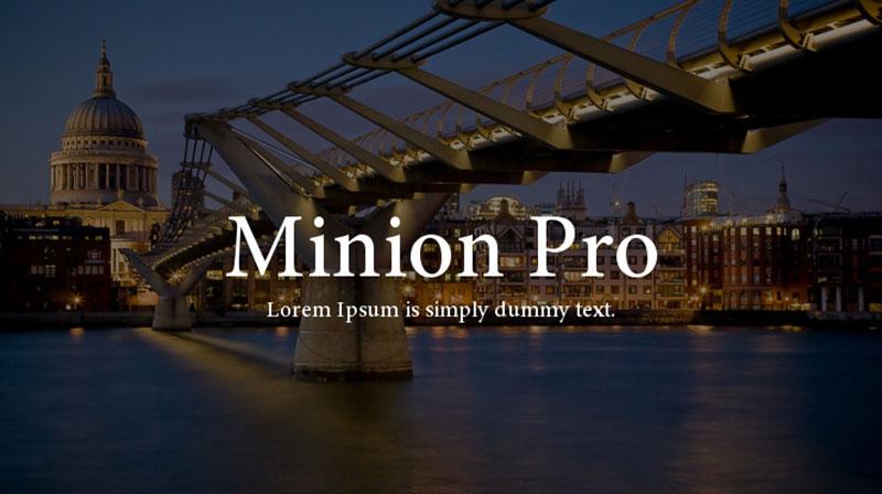 minion-pro Une grande liste de polices faciles à lire (à vérifier)