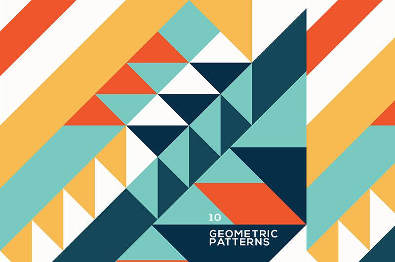 10 motifs géométriques colorés gratuits Téléchargez ces motifs Photoshop gratuits à utiliser dans votre travail