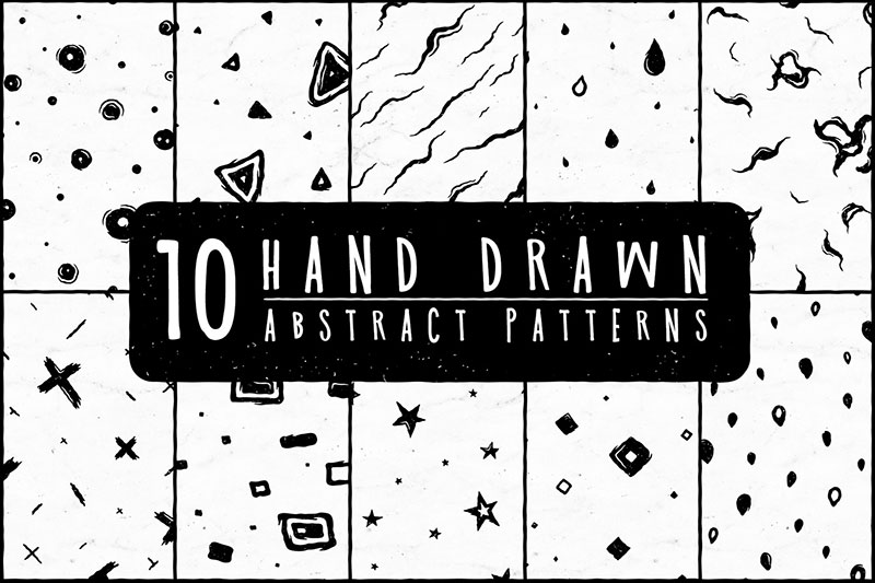 10-Free-Hand-Drawn-Abstract-Pattern Abstract background images and textures to download