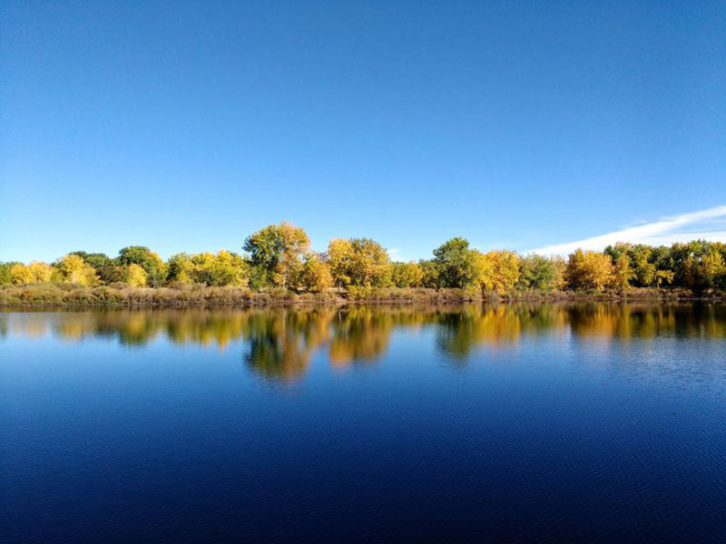Lake-in-Early-Fall-A-Deep-Blue Fall background images to use in your projects