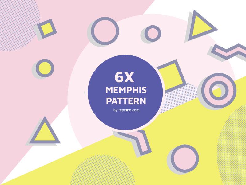 Memphis-Style-Pattern-Pack-Creation-trend Téléchargez ces modèles Photoshop gratuits à utiliser dans votre travail