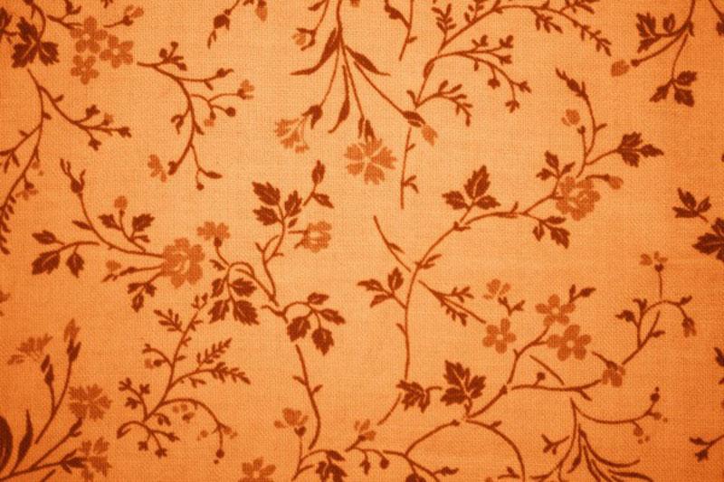 Orange-Floral-Print-Fabric-Texture-La-beauté-des-tissus Téléchargez ces magnifiques textures de fond dès maintenant