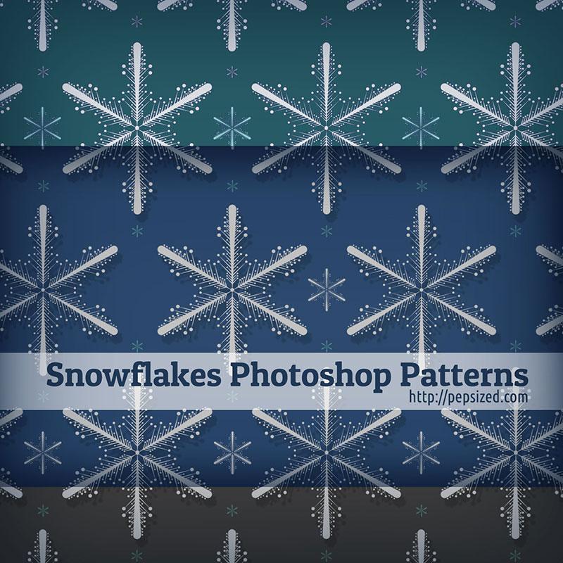 Snowflakes-Photoshop-Patterns Téléchargez ces modèles Photoshop gratuits à utiliser dans votre travail
