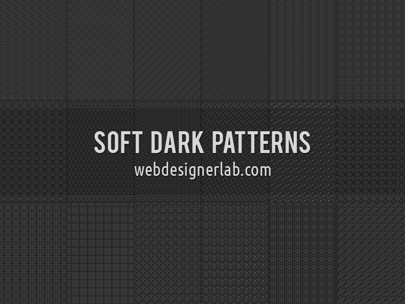 Soft-Dark-Patterns Téléchargez ces modèles Photoshop gratuits à utiliser dans votre travail