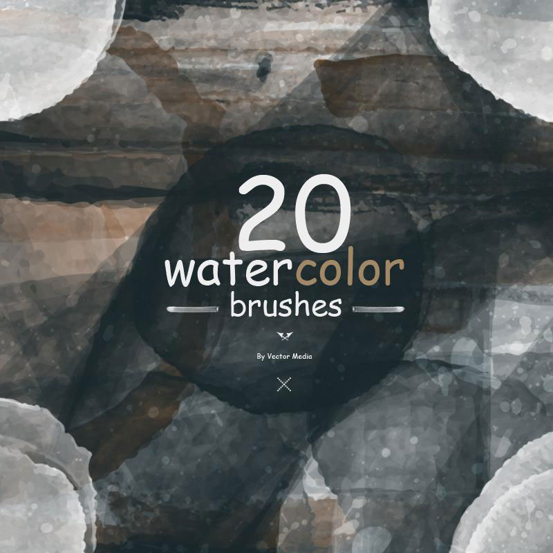 20-Watercolor-Brushes-Combine-with-what-you-want The best Photoshop watercolor brushes you can get online