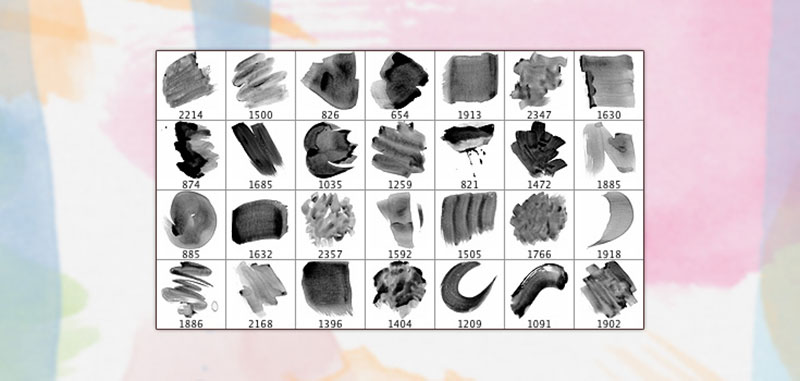 28-High-Resolution-Watercolor-Brushes-Different-types-of-shading The best Photoshop watercolor brushes you can get online