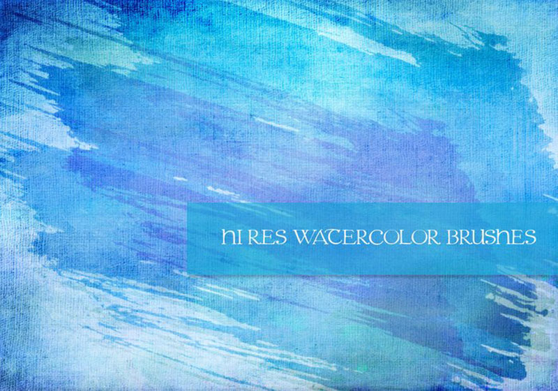 Free-Watercolor-7-Pack-For-quick-designs The best Photoshop watercolor brushes you can get online