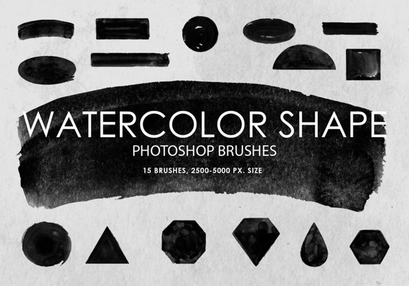 Watercolor-Shapes-Defined-shapes The best Photoshop watercolor brushes you can get online