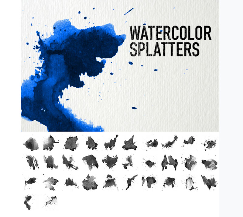 Watercolor-Splatters-Another-stained-alternative The best Photoshop watercolor brushes you can get online