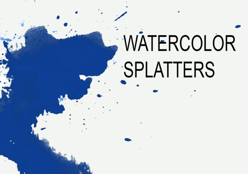 Watercolor-Splatters-High-resolution-stains The best Photoshop watercolor brushes you can get online