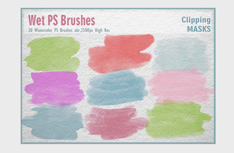 Wet-PS-Brushes-Realistic-effects The best Photoshop watercolor brushes you can get online