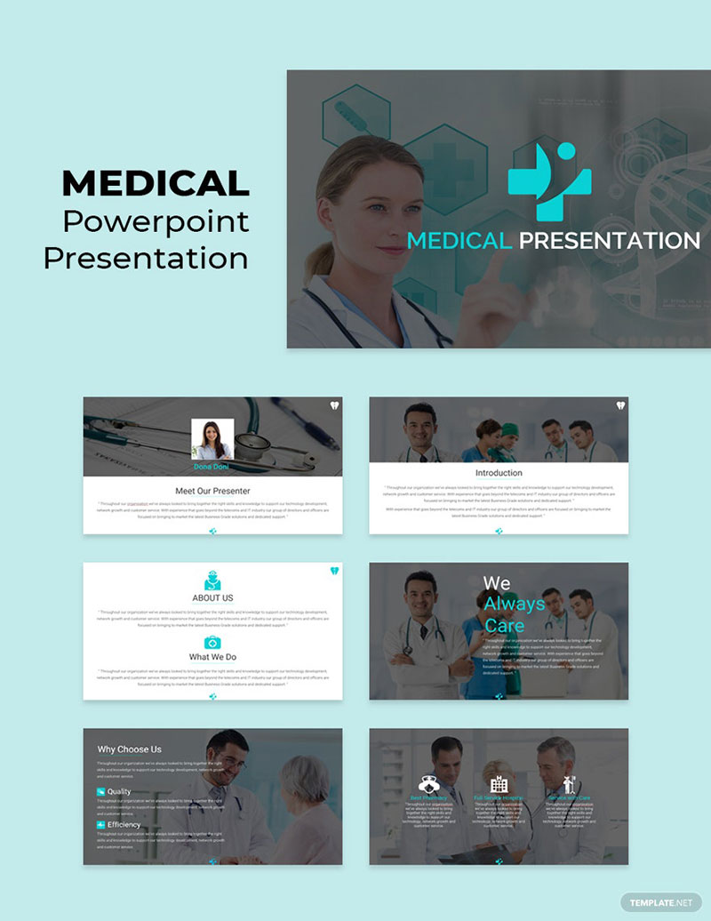 Top notch medical PowerPoint templates collection