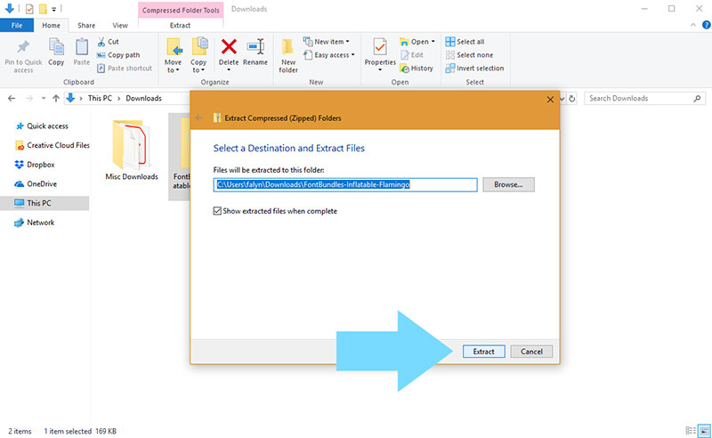 extract-1 How to add fonts to Inkscape (Quick and easy guide)