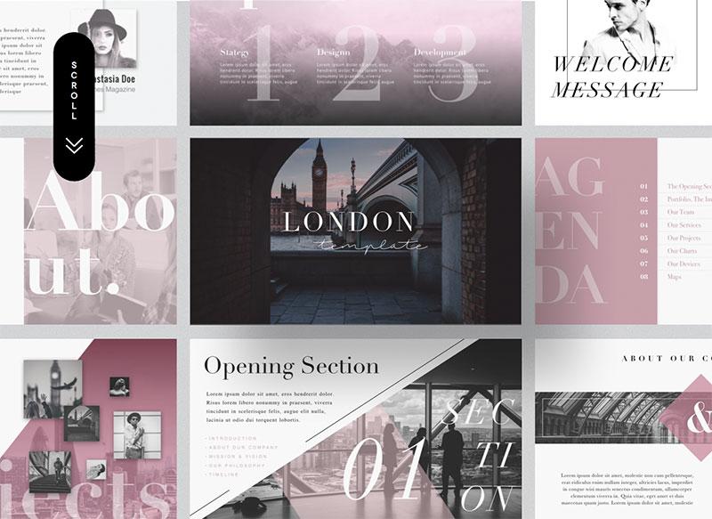 1London-–-Aesthetic-PowerPoint-Theme The best free minimalist Powerpoint templates