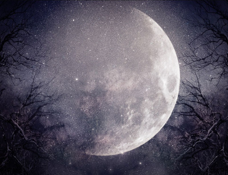 Fantasy-Night-Background-With-Big-Moon-Glowing-Under-the-moonlight Neat stars background images for stellar designs