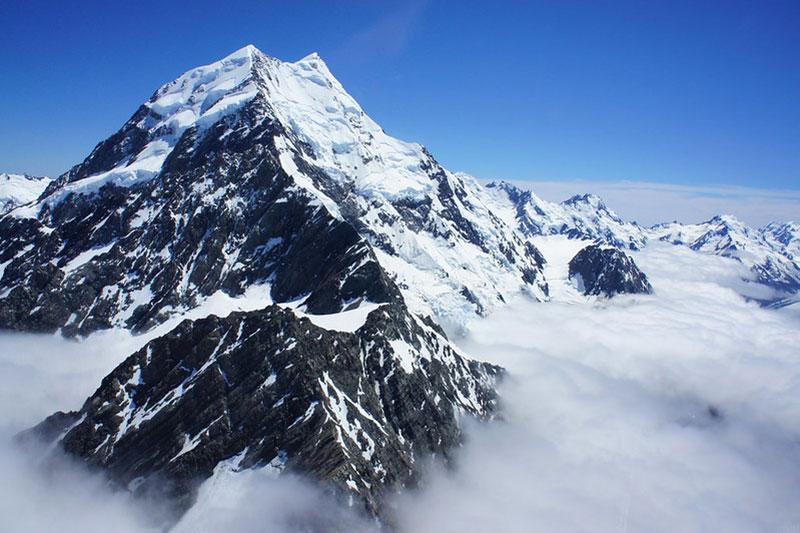 Glaciers-at-Mount-Cookwallpaper New Zealand wallpaper images for your desktop background