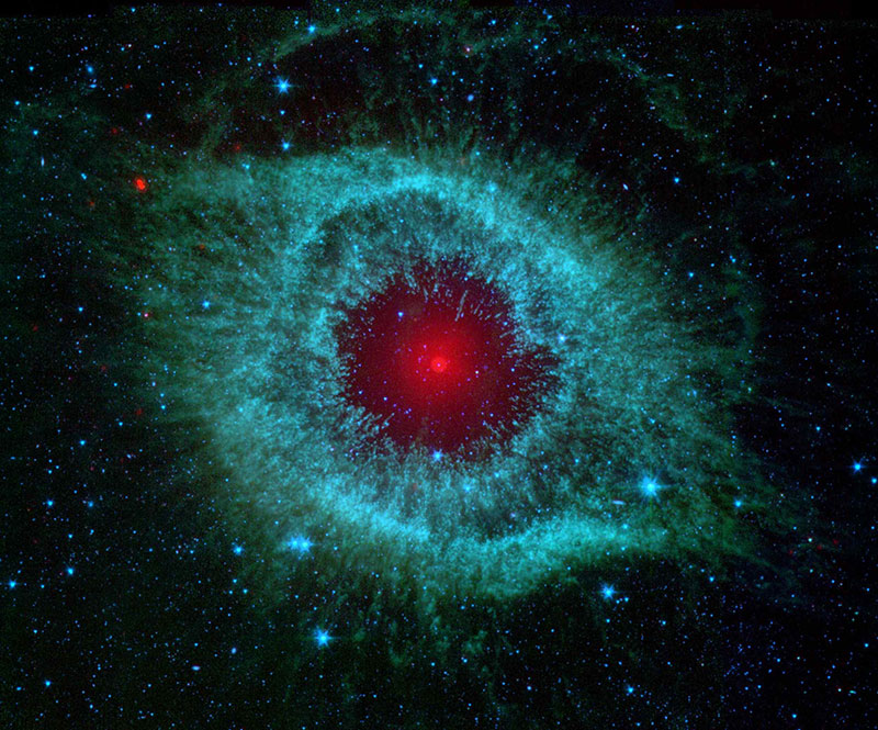 Helix-Nebula-As-Seen-By-Spitzer-The-scientific-view Space background images and textures you can't work without