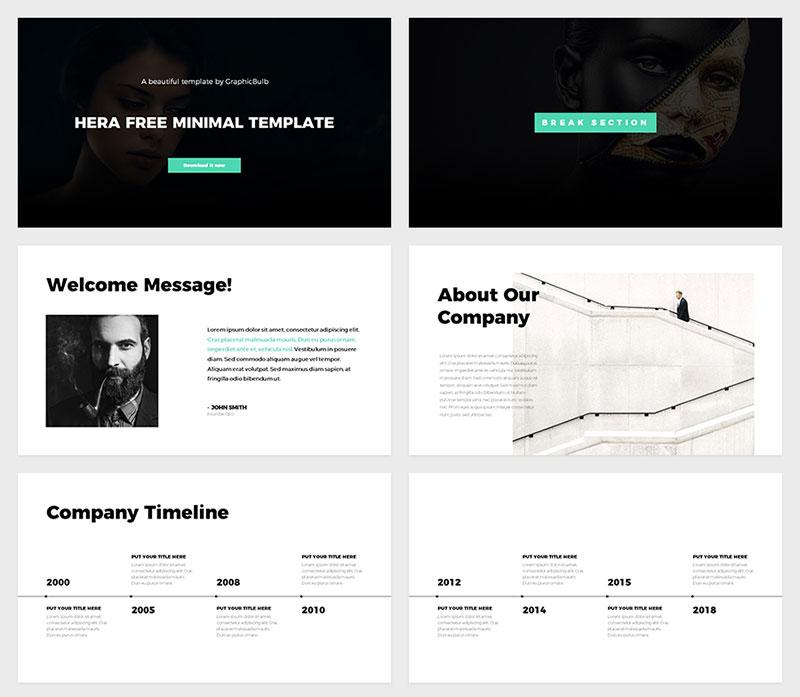 The best free minimalist Powerpoint templates