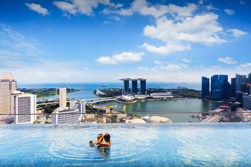 Marina-Bay-Sands-Infinity-Poolwallpaper Nice looking Singapore Wallpaper Images To Use As Backgrounds