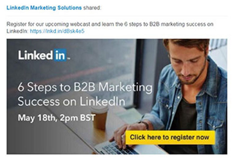 linkedin2 11 Advertisement Design Tips That Will Help You Make an Impression