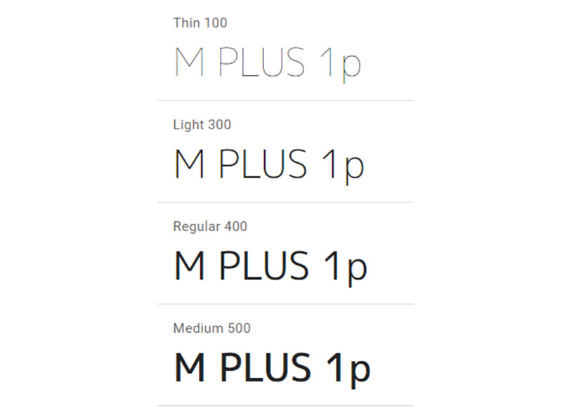 M-PLUS-1p What font does Slack use in its interface and website?