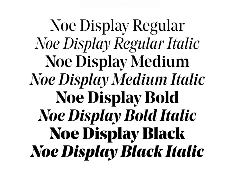 Noe What font does Medium use on its website?