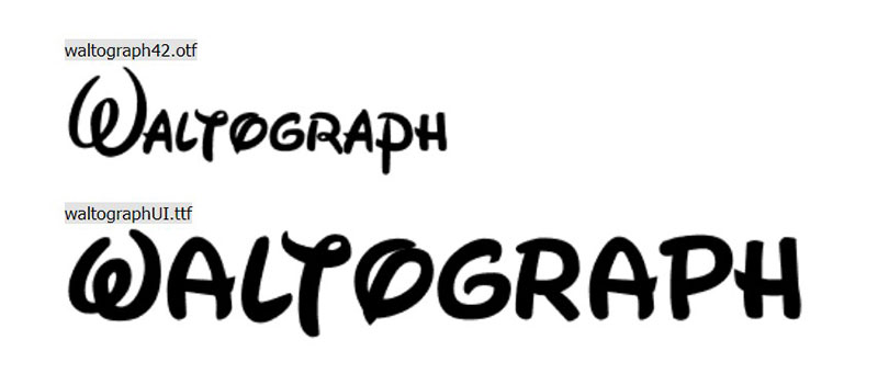 waltograph What font does Disney use? Check out the Disney fonts