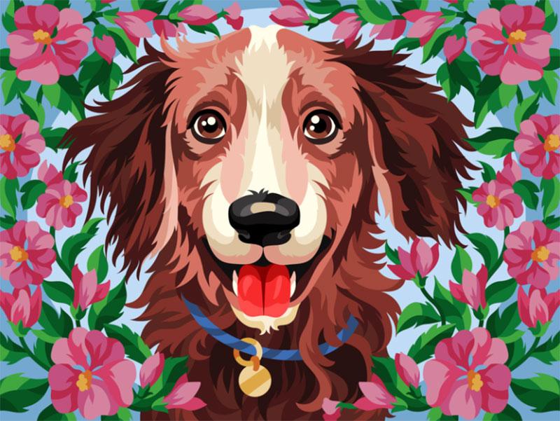 Beautiful-dog Awesome dog illustration images to inspire you