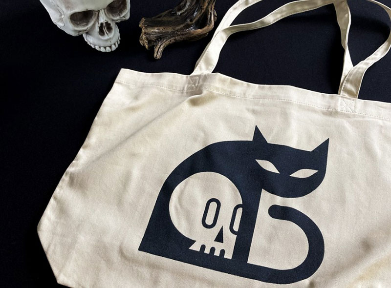 Black-Cat-Tote-Club-Kiddo Beautiful cat illustration examples to check out