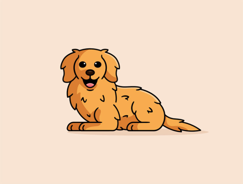 Golden-Retriever-Dog Awesome dog illustration images to inspire you