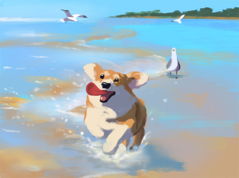 Having-fun Awesome dog illustration images to inspire you