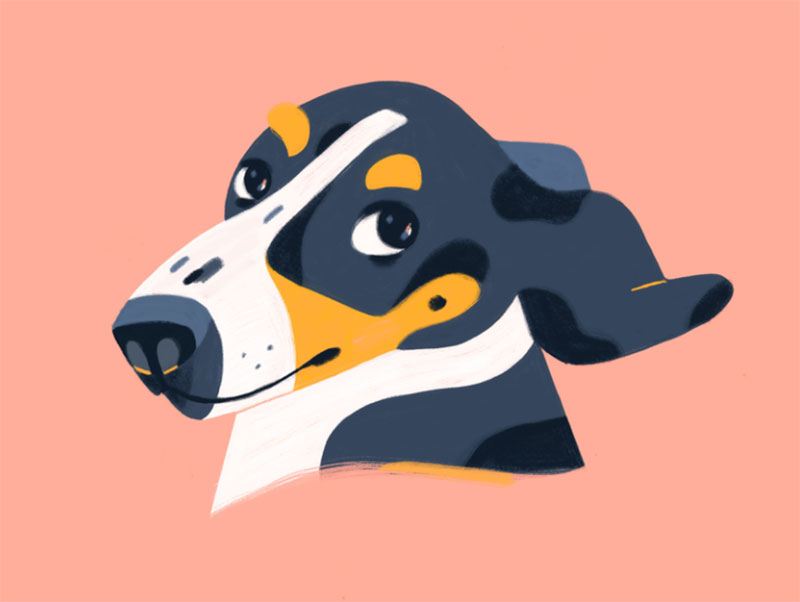 Hey-There Awesome dog illustration images to inspire you