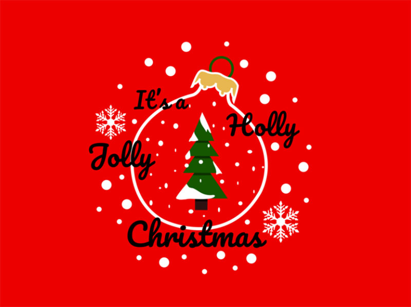 Holly-Jolly-Christmas-Illustration Christmas illustration examples that look amazing