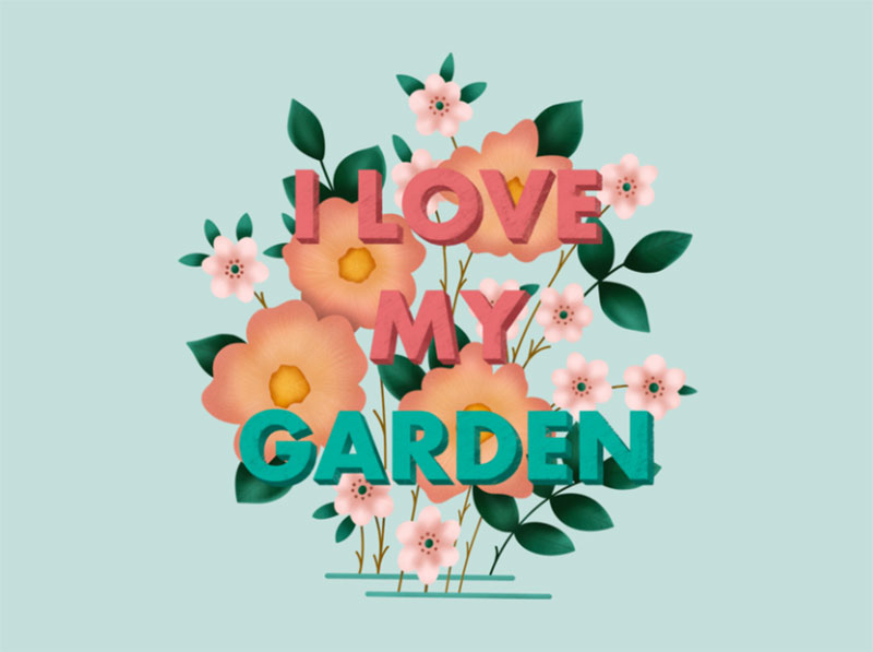I-Love-My-Garden Dreamy spring illustration examples you must see