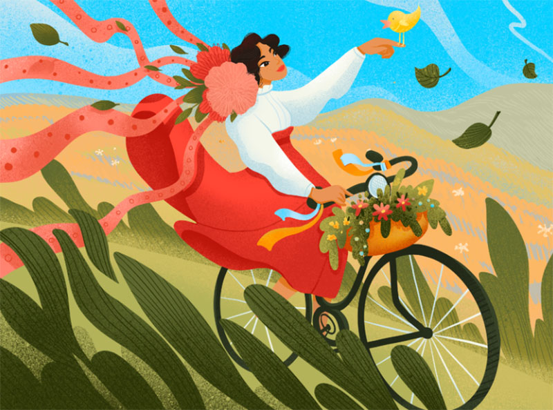 Meet-the-Spring-Illustration Dreamy spring illustration examples you must see