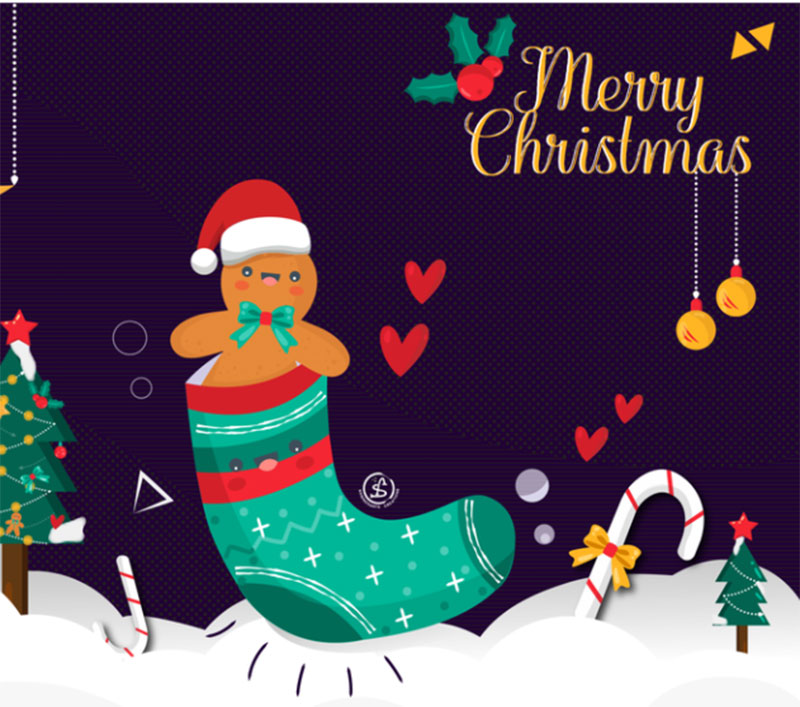 Merry-Christmas2 Christmas illustration examples that look amazing