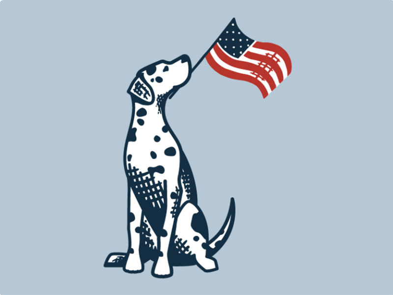 Molly-Waves-A-Flag-Grounds-_-Hounds Awesome dog illustration images to inspire you