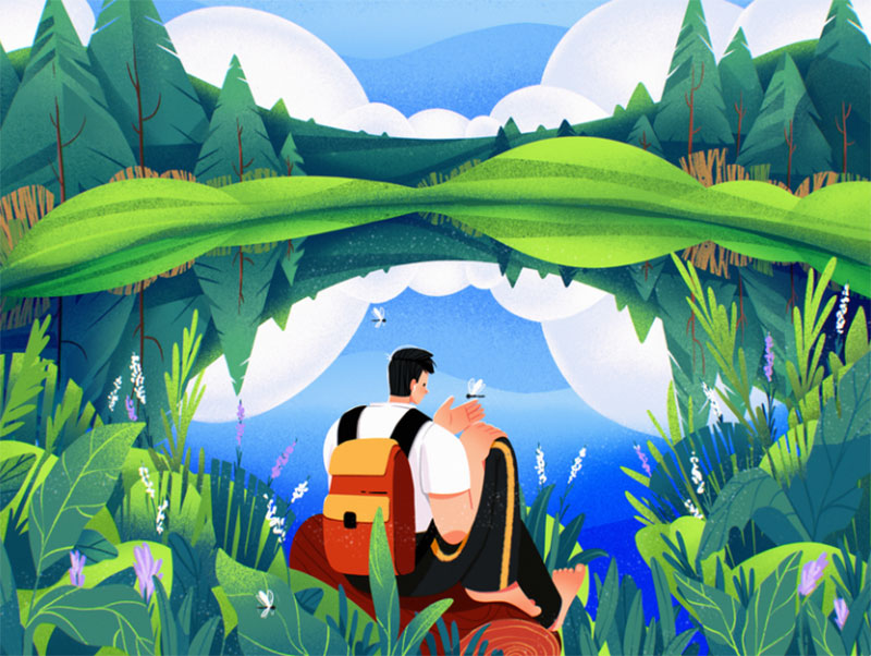 Perfect-Isolation Dreamy spring illustration examples you must see