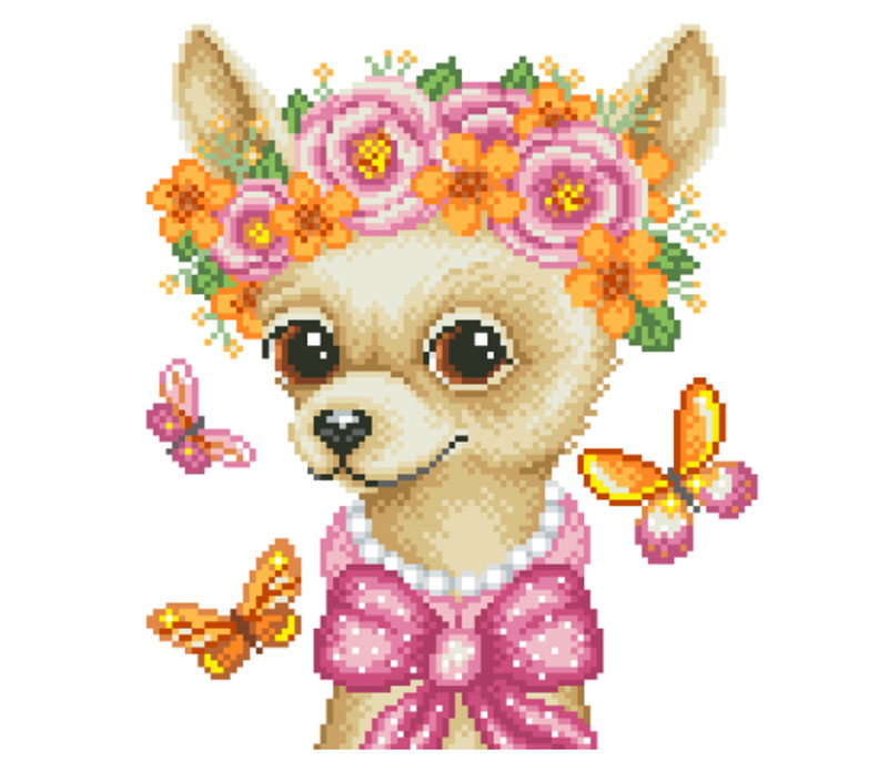 Pixel-Art Awesome dog illustration images to inspire you