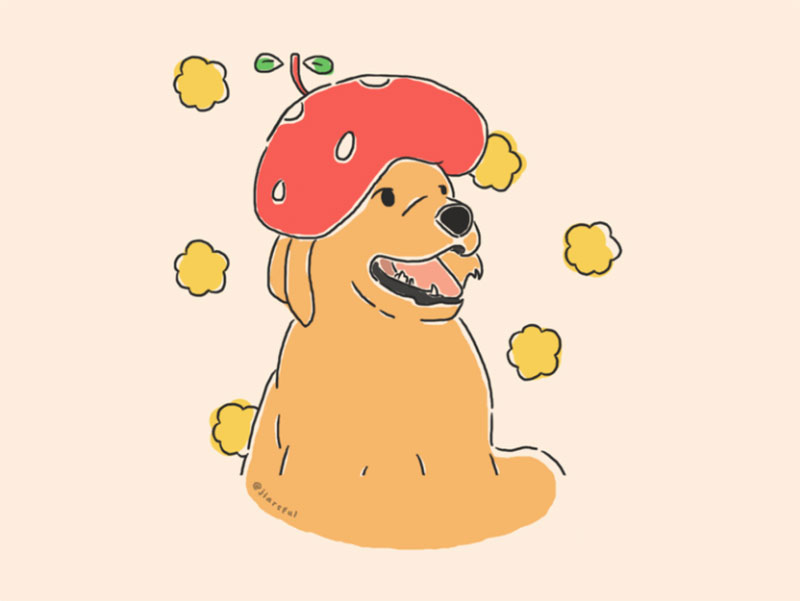 Pup_s-Strawberry-Hat Awesome dog illustration images to inspire you