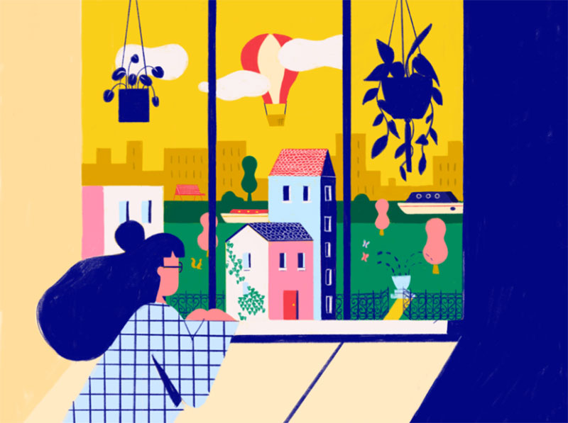 Quarantine-in-Spring Dreamy spring illustration examples you must see