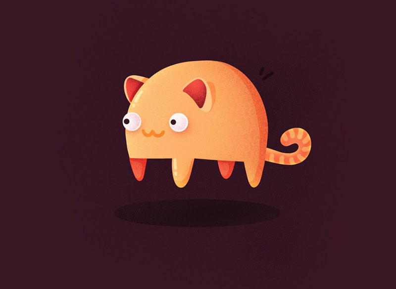 Random-Flying-Cat Beautiful cat illustration examples to check out