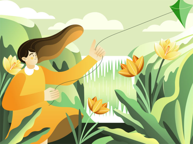 SPRING2 Dreamy spring illustration examples you must see