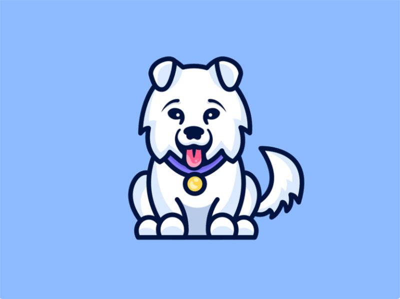 Samoyed-illustration-dog-animal Awesome dog illustration images to inspire you